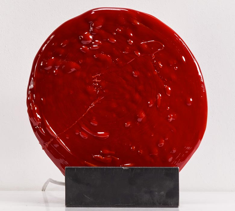 lampade da tavolo rosse Alone 0059